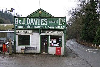 Bucknell, Shropshire - Image: Village Store geograph.org.uk 646138