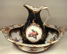 Saxe Hand Painted Bouillon Cup