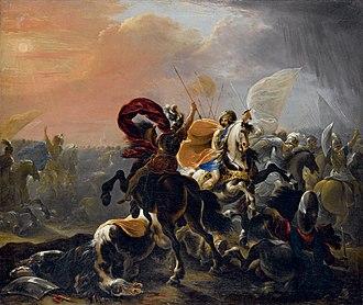 Vincent Adriaenssen - Battle between Turkish and Christian horsemen