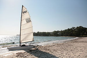 Vincentia, New South Wales - A boat on Collingwood beach.