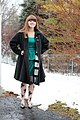 Vintage Wool Jacket, Green Dress, Floral Tights, Metallic Heels.jpg