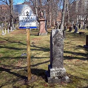 Viola Desmond - The gravesite of Viola Desmond at Camp Hill Cemetery, Halifax.
