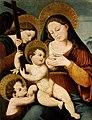 Virgen de la Leche con el niño Jesús, San Juanito y un Ángel, del círculo de Juan de Juanes (Museo de Bellas Artes de Valencia).jpg