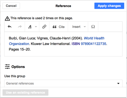 Wikipediavisualeditoruser guide wikipedia visualeditor editing references 6g ccuart Images
