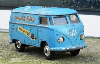 Toblerone - Imaginative advertising in the 1960s included the production of a model Volkswagen Type 2 by Corgi Toys, featuring Toblerone designs on its side panels