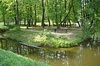 Vorontsovo manor Park. One of the ponds, part of ponds cascade.jpg