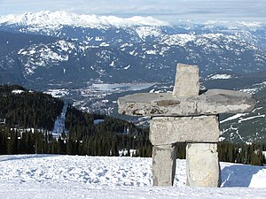 2010 Winter Olympics - A statue of Ilanaaq, located on Whistler Mountain.