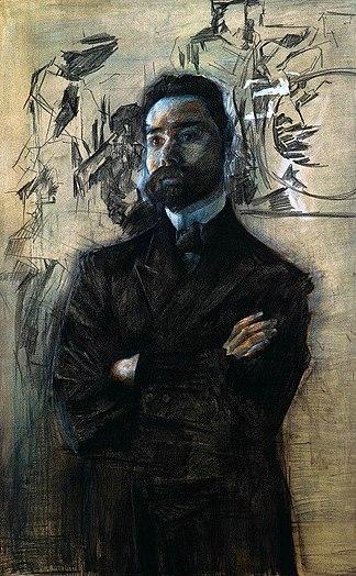 Портрет Брюсова. 1906, Государственная Третьяковская галерея