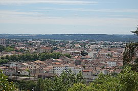 View of Agen from heights