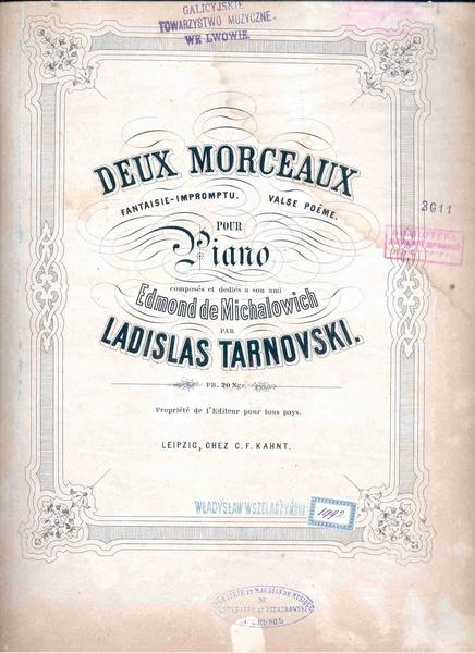 File:W. Tarnowski - Deux Morceaux - Fantazie-Impromptu, Valse-poeme.pdf