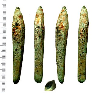 Berkhamsted - An Early Middle Bronze Age (c.1500 to 1300 BC) copper Chisel found in Berkhamsted.