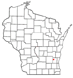 Location of Addison, Wisconsin