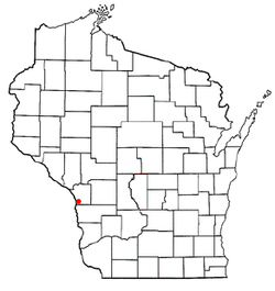 Location of Shelby, Wisconsin