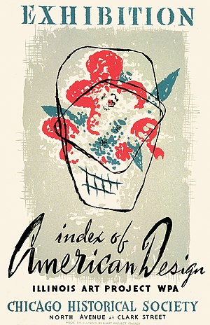 1941 in the United States - American Design exhibit 1941, Chicago, poster by WPA Art Project