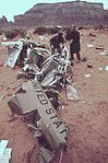 WRECKAGE OF AN ARMY HELICOPTER ASSIGNED TO CLEAN-UP OF THE SAN JUAN RIVER OIL SPILL - NARA - 545670.jpg