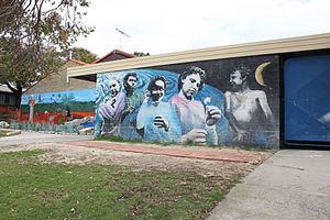 Beaconsfield, Western Australia - Image: WTF Jim Owens Beaconsfield PS murals 1