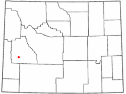 Location of Marbleton, Wyoming
