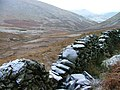Wall and View Down Glenderaterra Valley - geograph.org.uk - 98874.jpg
