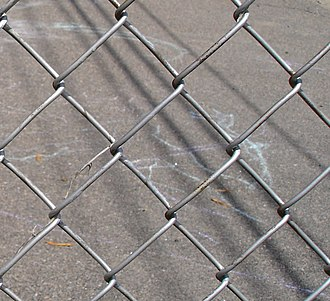 Chain-link fencing - Chain-link fencing showing the diamond patterning