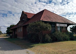 National Register of Historic Places listings in Cotton County, Oklahoma - Image: Walters Rock Island Depot