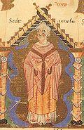 Walther Bischof von Eichstätt 1020-1021 aus dem Gundekarianum.jpg