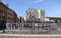 Wandmalerei Mittelstr 20 (Wittenberg) Sie heißen Geduld und Zuversicht und ihr Schicksal liegt in meinen Händen&Herakut&2016.jpg