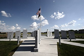 O'Fallon, Illinois - Image: War memorial, O'Fallon, Illinois