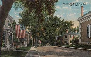 Bath, Maine - Washington Street in 1914