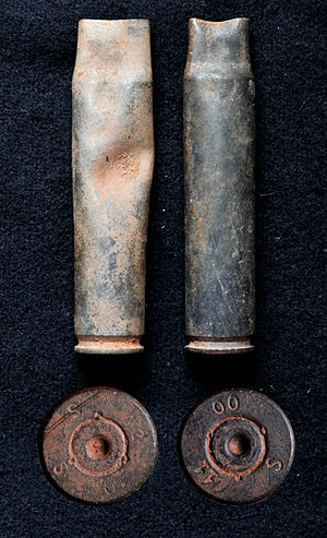 Battle of Waterberg - Two shell casings from the battlefield at the Waterberg, found in October 2012