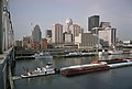 Waterfront and downtown Louisville Kentucky USA Ohio River mile 604 June 1999 file 99f102.jpg
