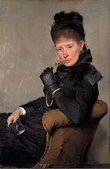 Portrait of the Swedish painter Jeanna Bauck
