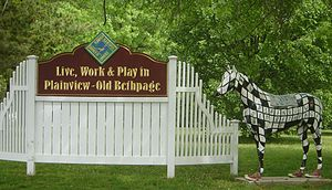 Old Bethpage, New York - Image: Welcome to Plainview and Old Bethpage