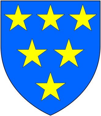 Nicholas Walsh (judge) - Arms of Walsh: Azure, six mullets or