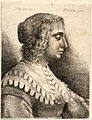 Wenceslas Hollar - Young woman with scalloped collar, after Bijert (State 1).jpg