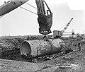 Werkaanleg transportleiding Lek, Duinplan, Gouda, watervoorziening Den Haag, Bestanddeelnr 906-8914.jpg