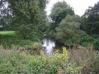 The Werse flows into the Ems at Münster-Gelmer
