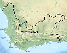 西開普省-地理-Western Cape Topology and boundary
