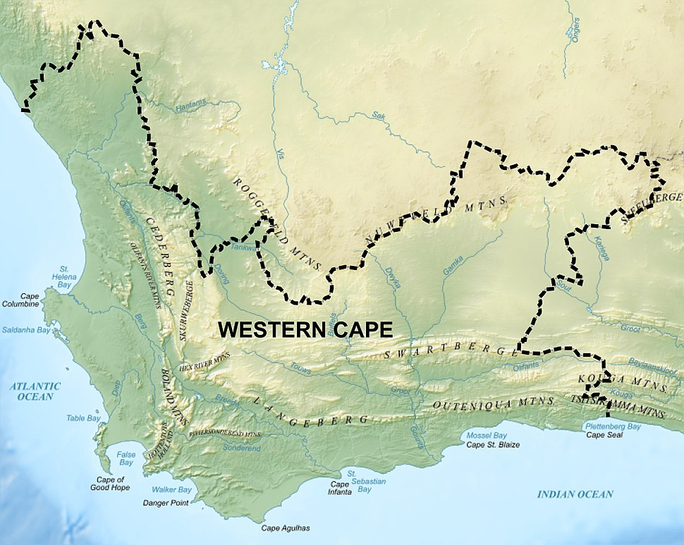 Western Cape Topology and boundary