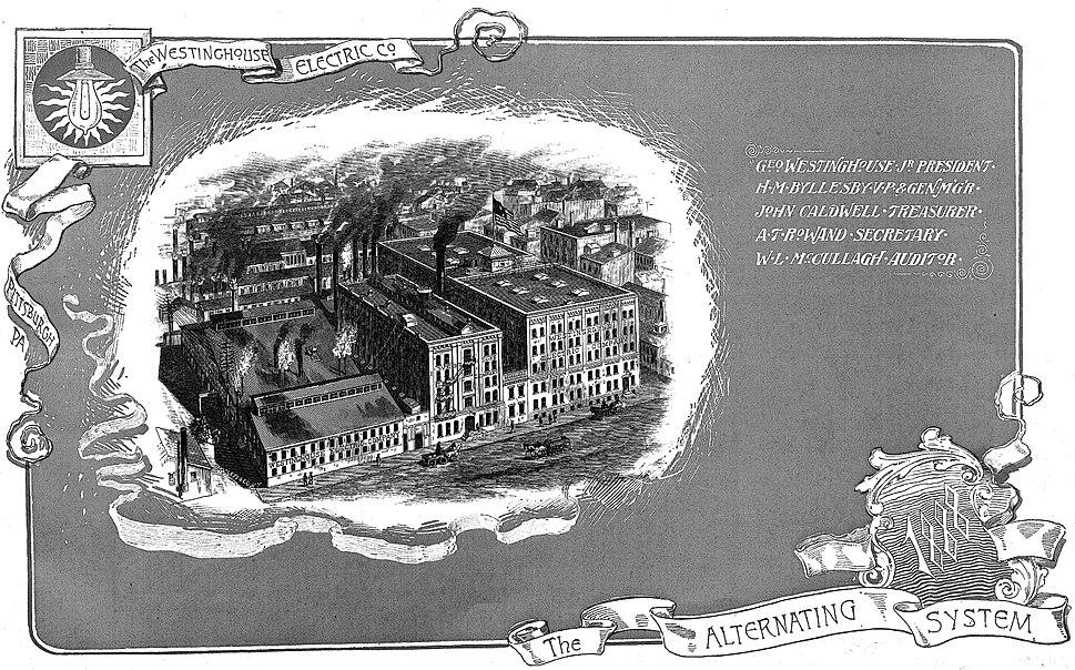 Westinghouse Electric Company (1888 catalogue)