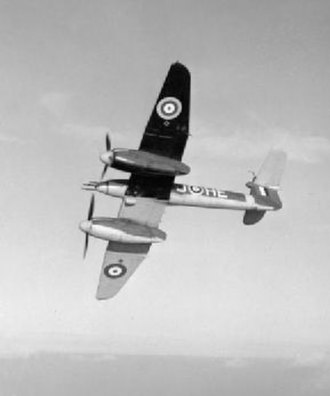 "Westland Whirlwind (fighter) - Whirlwind showing the new ""Type B"" paint scheme introduced in November 1940: while the black underside to the port wing was temporary, the sky fuselage band was a longer-lasting change."