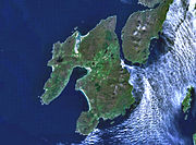 Landsat image of Islay, with Jura visible to the east