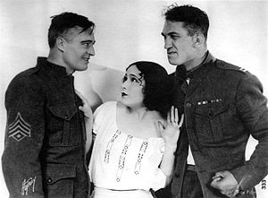 Victor McLaglen - Edmund Lowe, Dolores del Rio, and McLaglen in What Price Glory? (1926)