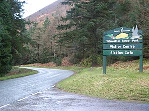 Cumbria - The entrance to Whinlatter Forest Park