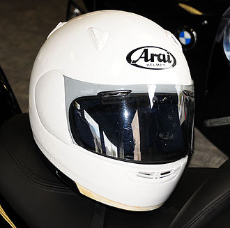 Motorcycle helmet - Full face helmet.