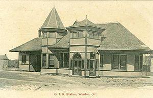 Wiarton, Ontario - Wiarton railway station, 1907