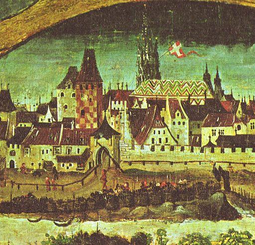 Wien Roter Turm um 1490