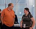 Wikimania 2009 - Jan-Bart and Brianna.jpg