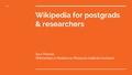 Wikipedia for Postgraduates & Researchers.pdf