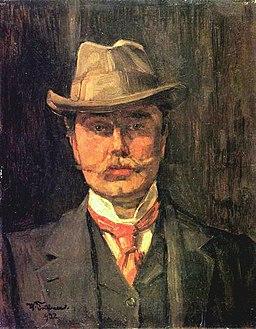 Wilhelm Trübner Autoportret z kapeluszem (1902)