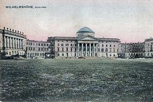 Schloss Wilhelmshöhe - Schloss Wilhelmshöhe in a 1907 postcard